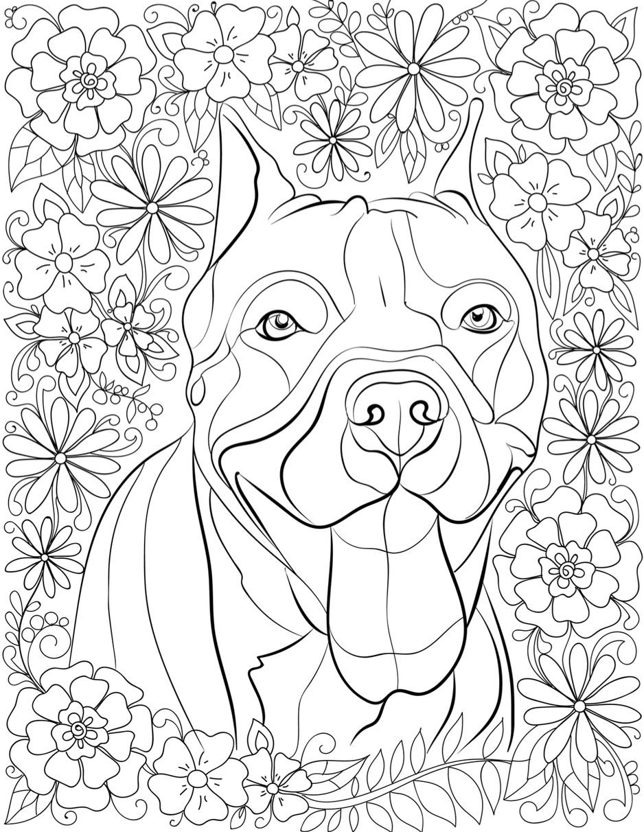 De And Pitbull Coloring Pages
