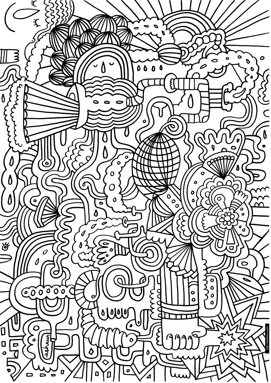 Difficult Coloring Page 29712,