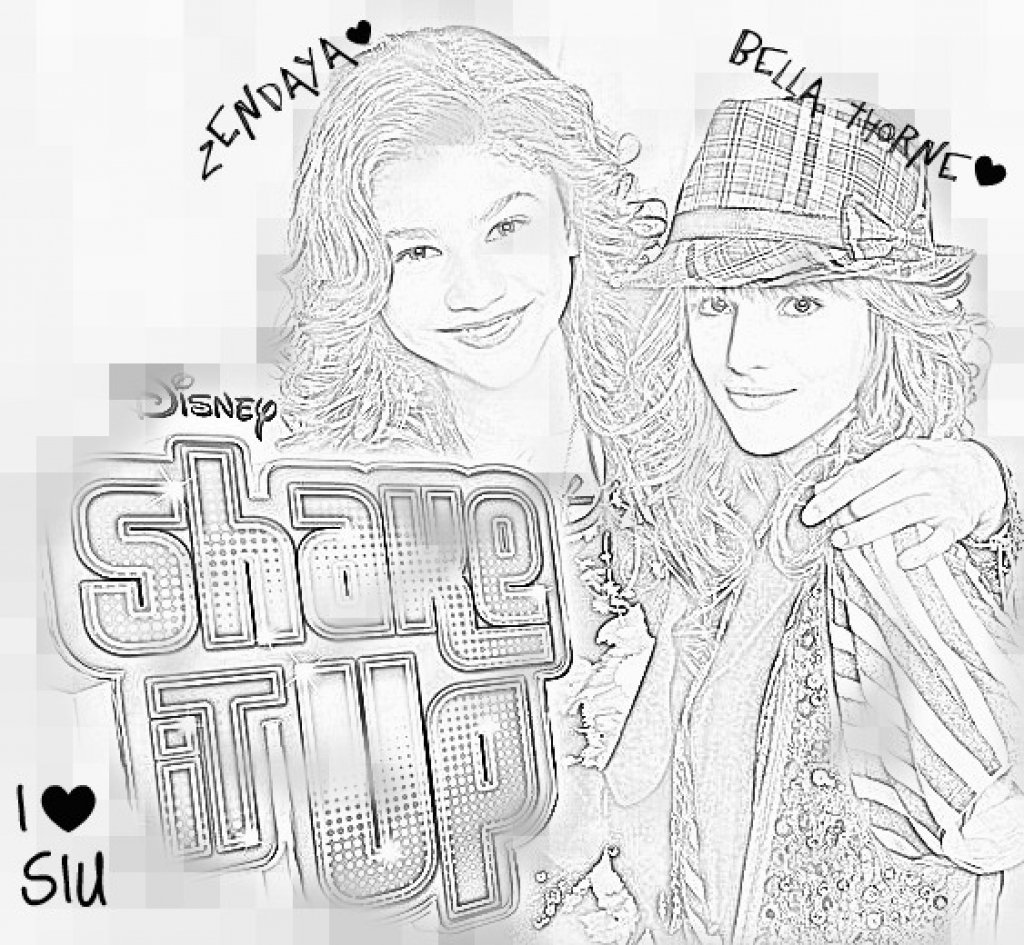 Disney Shake It Up Coloring Pages