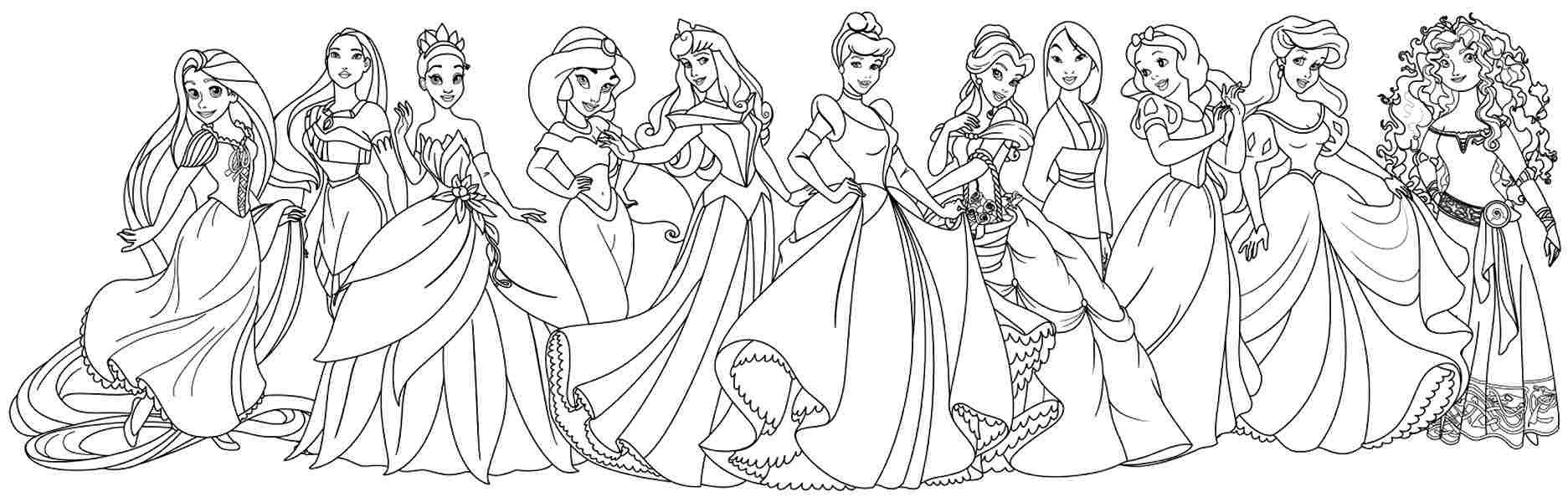 Disney Princess Coloring Pages For Girls Free Coloring Sheets