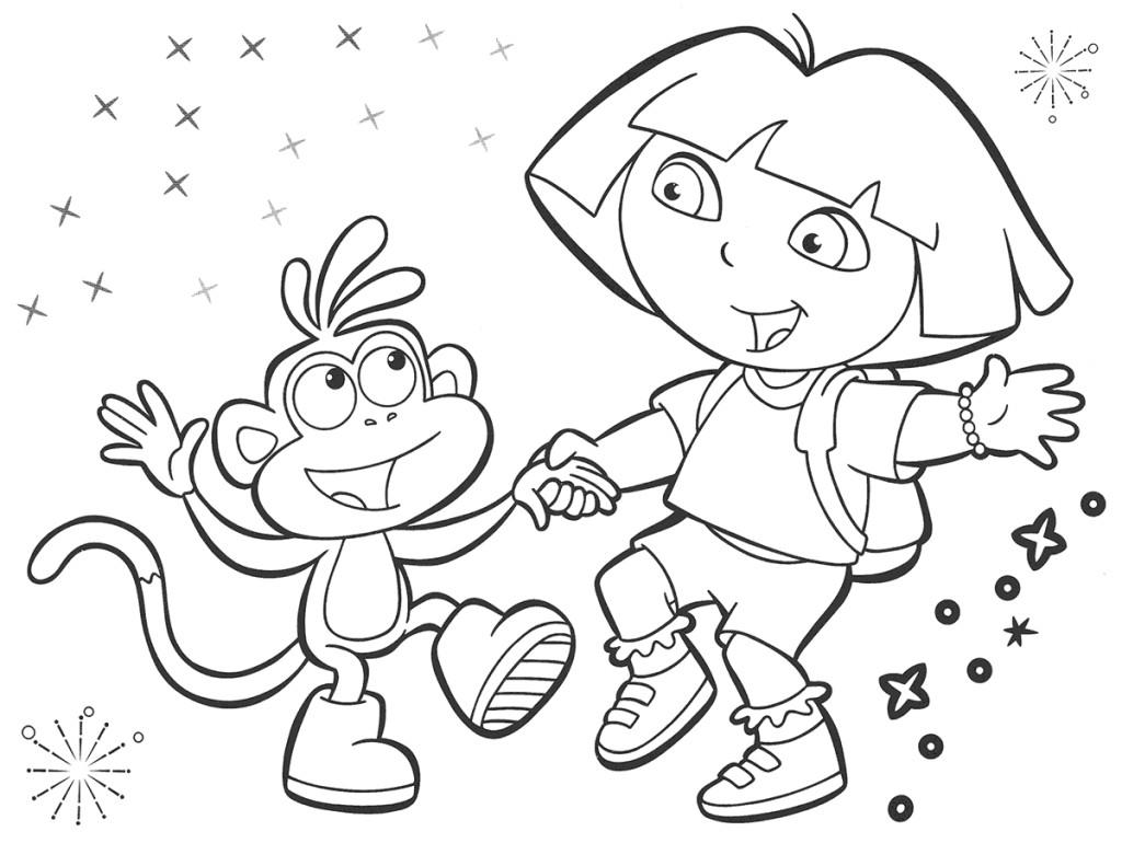 Dora The Explorer Coloring Pages