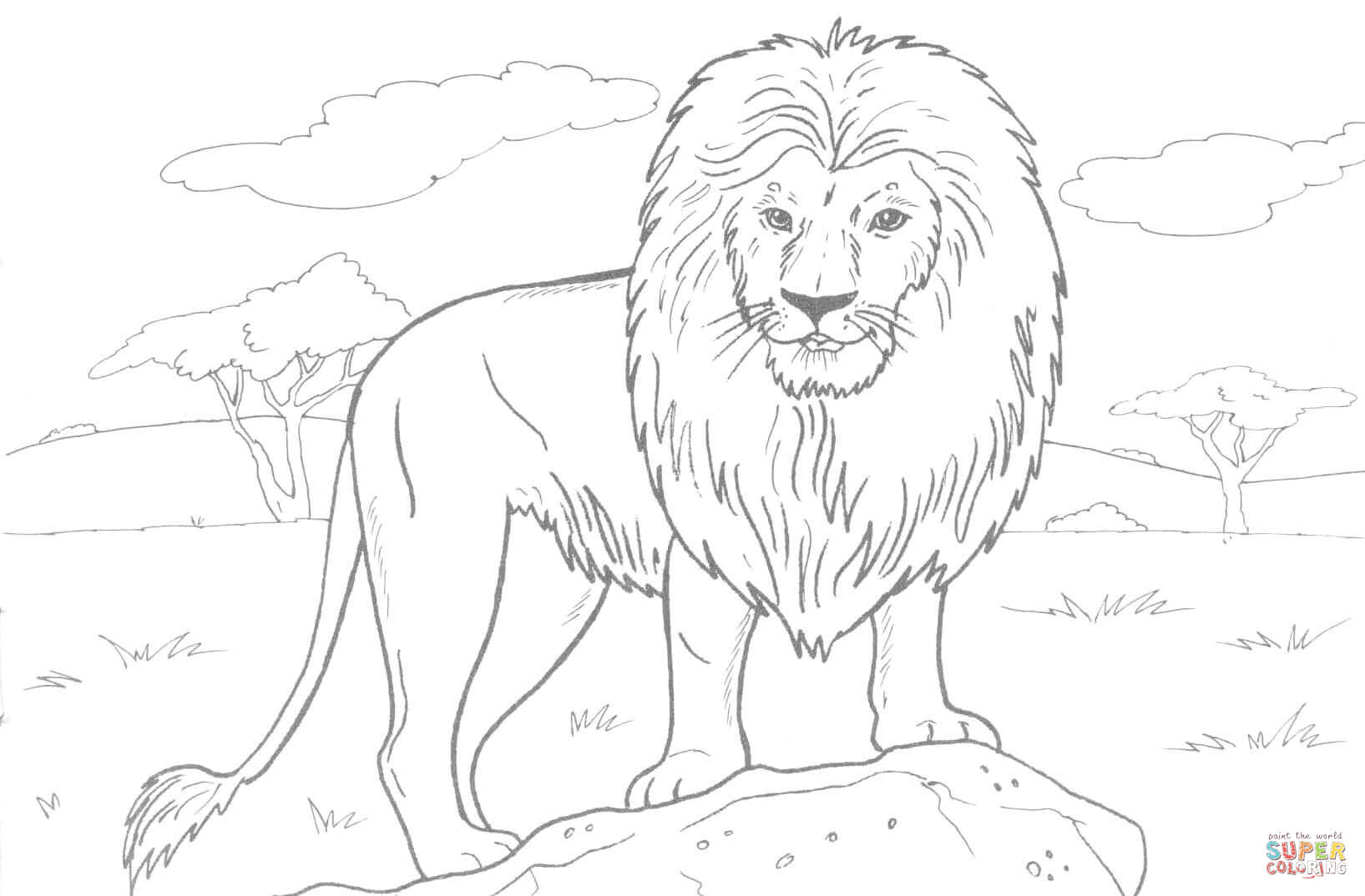 Downloads Coloring Pages Lion 81 In Free Coloring Pages For Kids