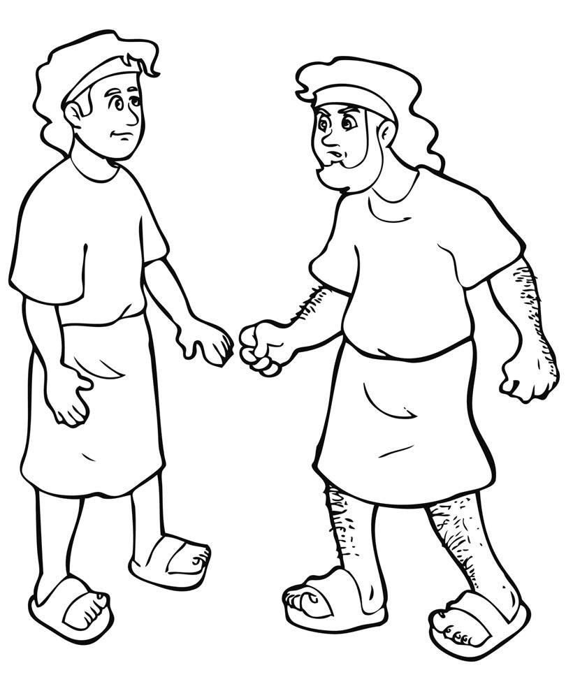 Downloads Jacob And Esau Coloring Page 95 For Picture With Jacob
