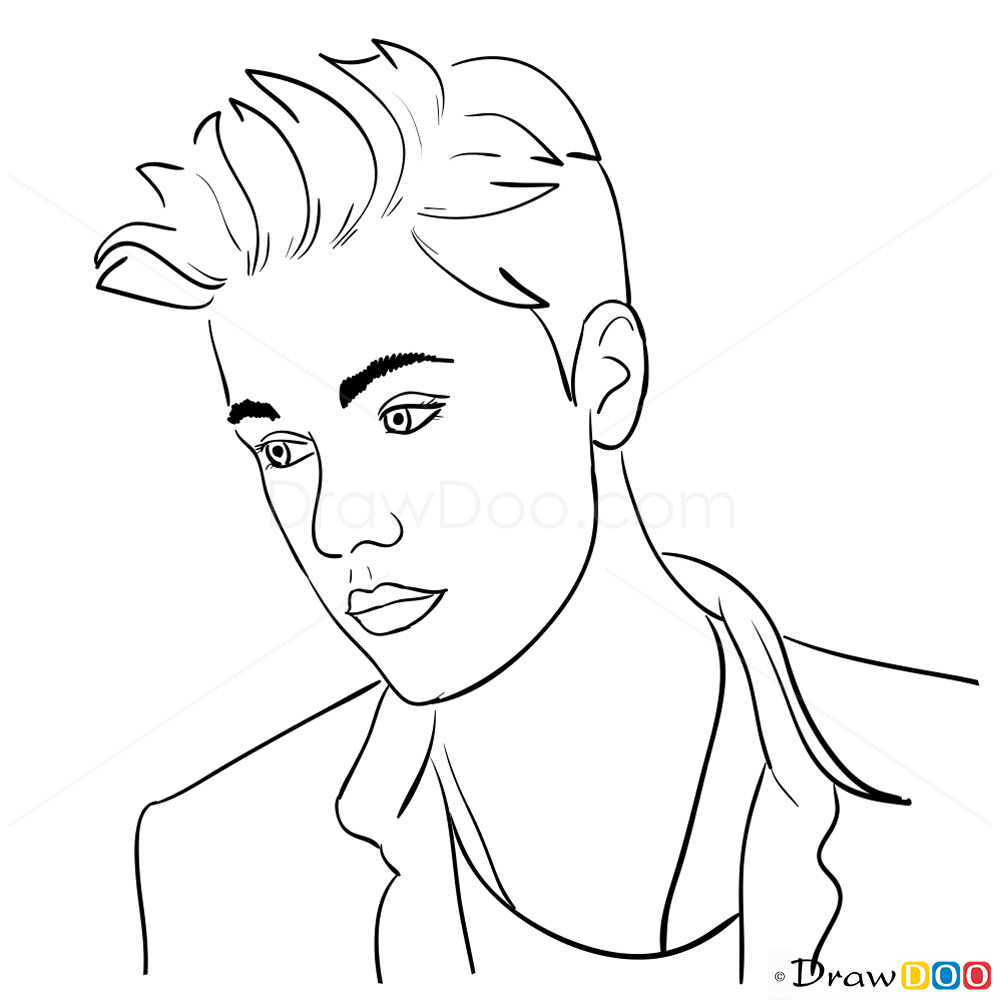 Justin Bieber  14 (celebrities) – Printable Coloring Pages