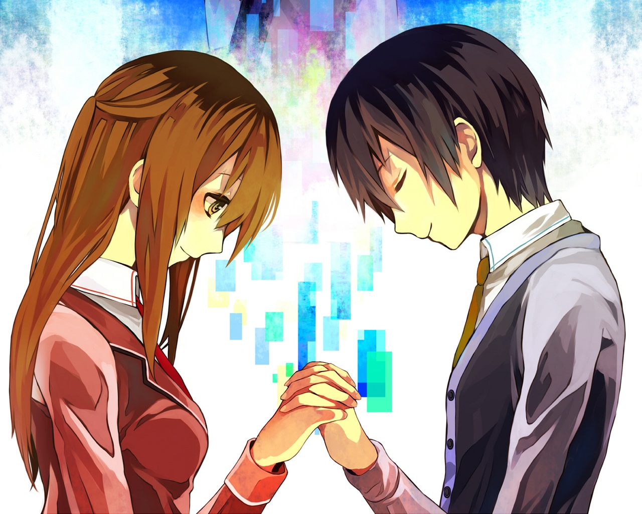 Sword Art Online  Asuna And Kirito  One Of The Cutest Anime