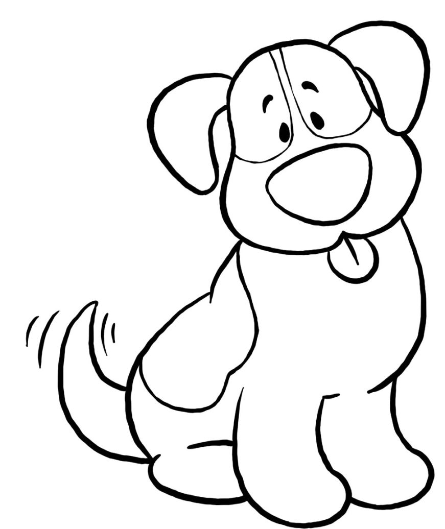 Easy Coloring Dog » Coloring Pages Kids