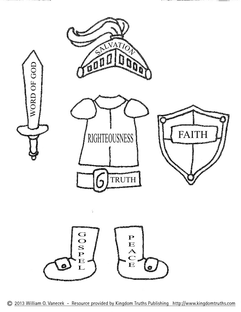 Armor Of God Coloring Pages Pictures Imagixs
