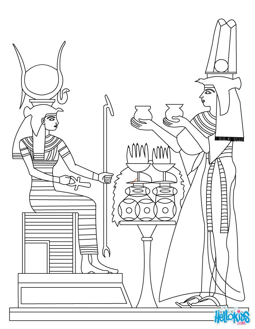 Ancient Egypt Art Coloring Pages