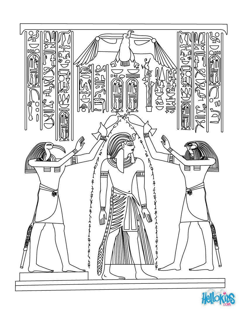 Egyptian Papyrus Painting Coloring Pages