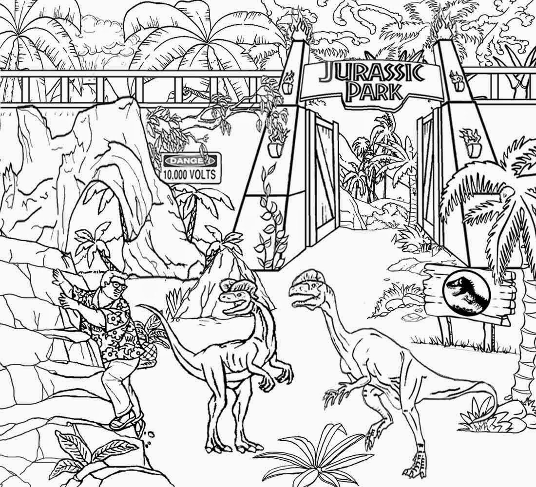 Elegant Jurassic Park Coloring Pages 40 On Coloring Site With