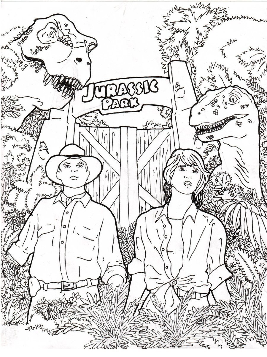Elegant Jurassic Park Coloring Pages 71 For Coloring Pages For