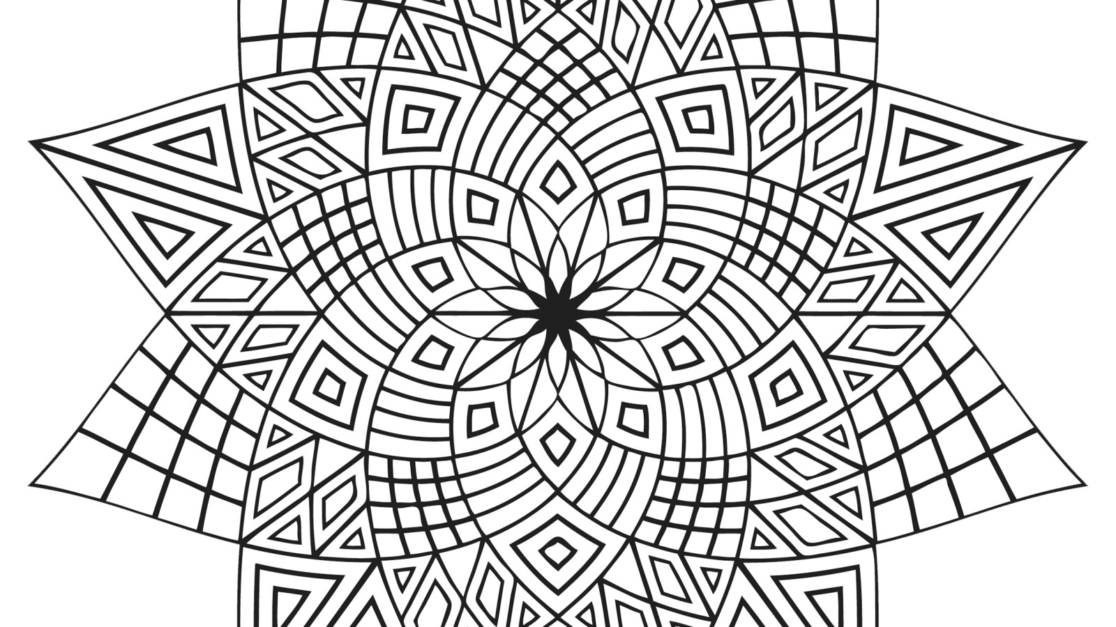 Epic Geometric Coloring Pages 13 On Picture Coloring Page With