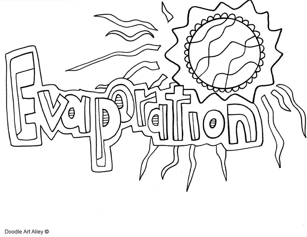 the water cycle coloring pages - photo#22