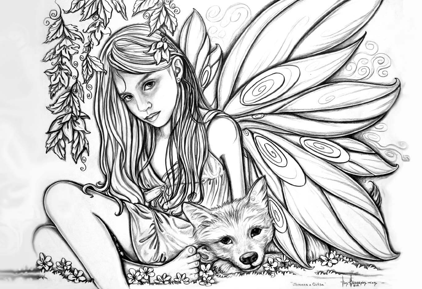Fairy Coloring Pages For Girls Free