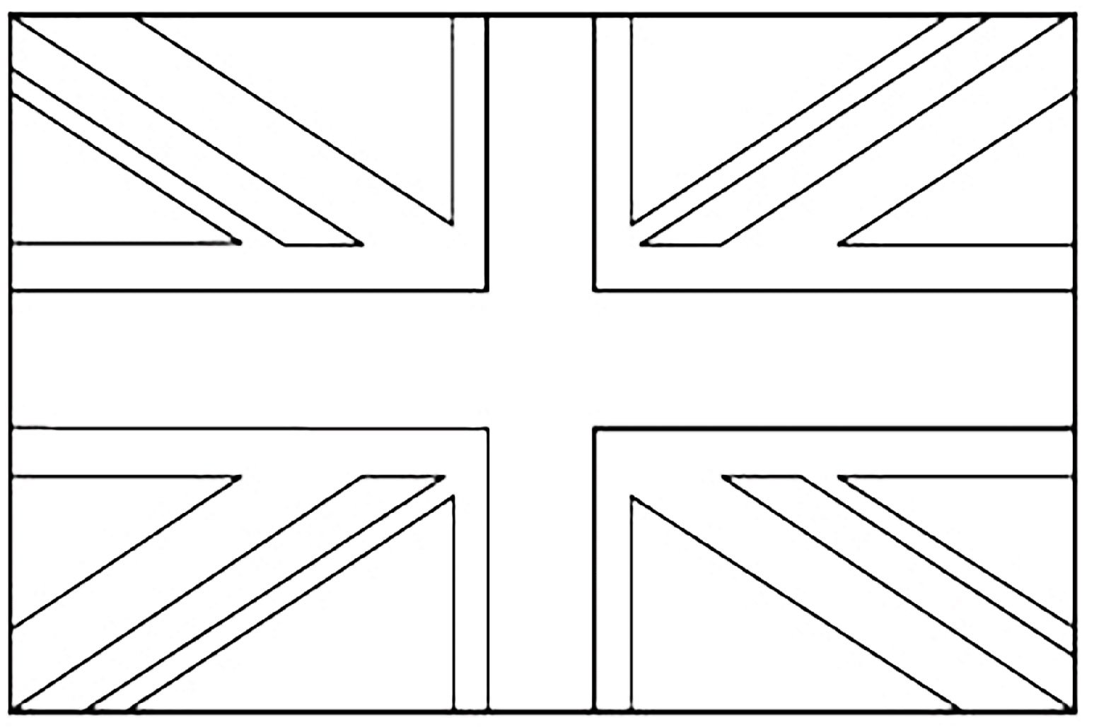 For Kid British Flag Coloring Page 46 In Coloring Pages Of Animals