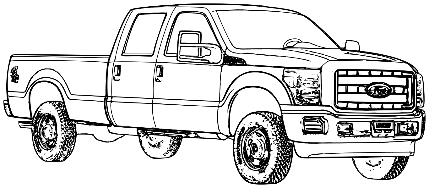 Ford Truck Coloring Pages 01 At Trucks Itgod Me Page