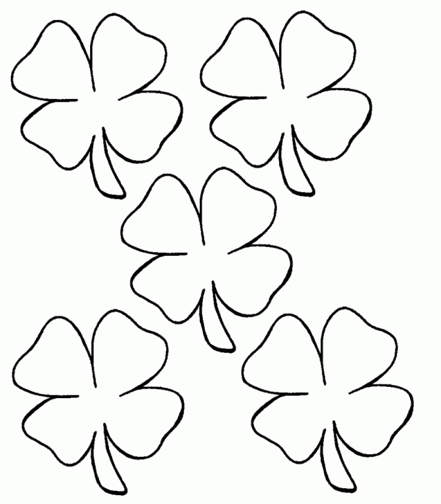 Four Leaf Clover Coloring Page Appliqu Ideas Neo Coloring With Regard