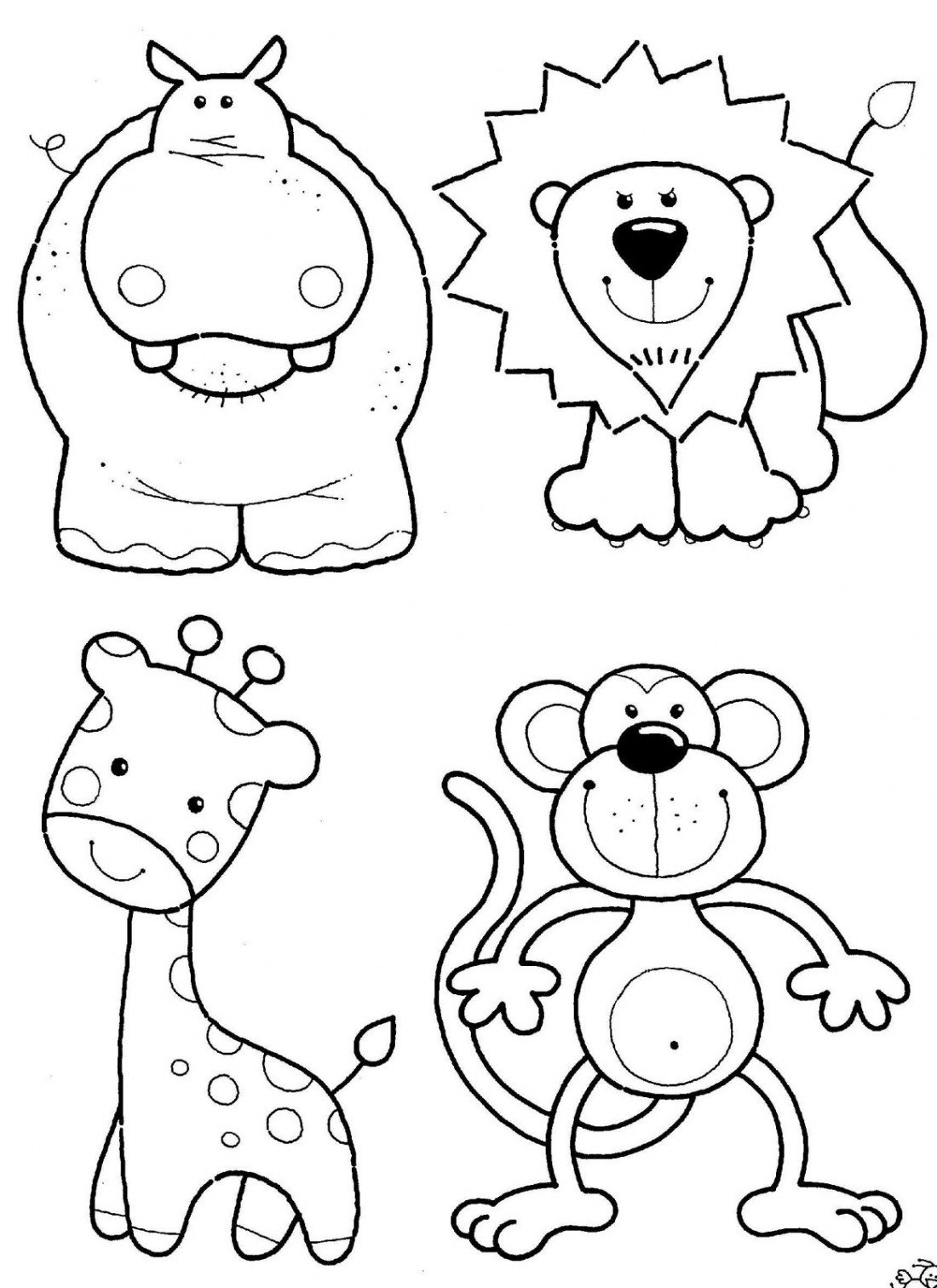 Free Animal Coloring Pages Kids