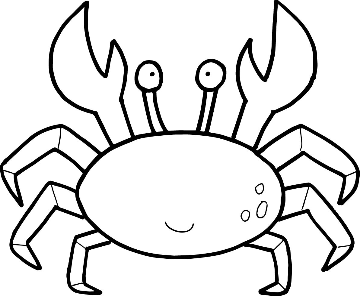Free Crab Coloring Page 67 With Additional Images With Crab