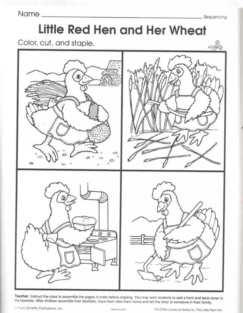 Free Download Little Red Hen Coloring Pages 23 In Free Online With