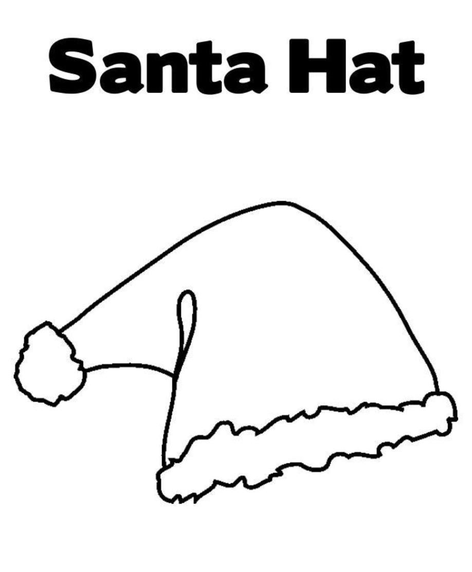 Free Hat Of Santa Claus Coloring Pages