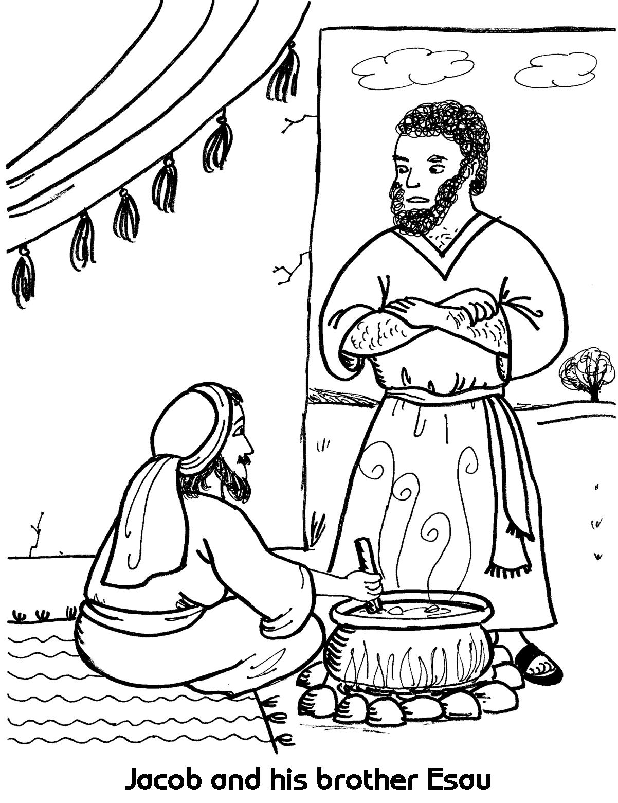 Free Jacob And Esau Coloring Page 25 For Free Online With Jacob