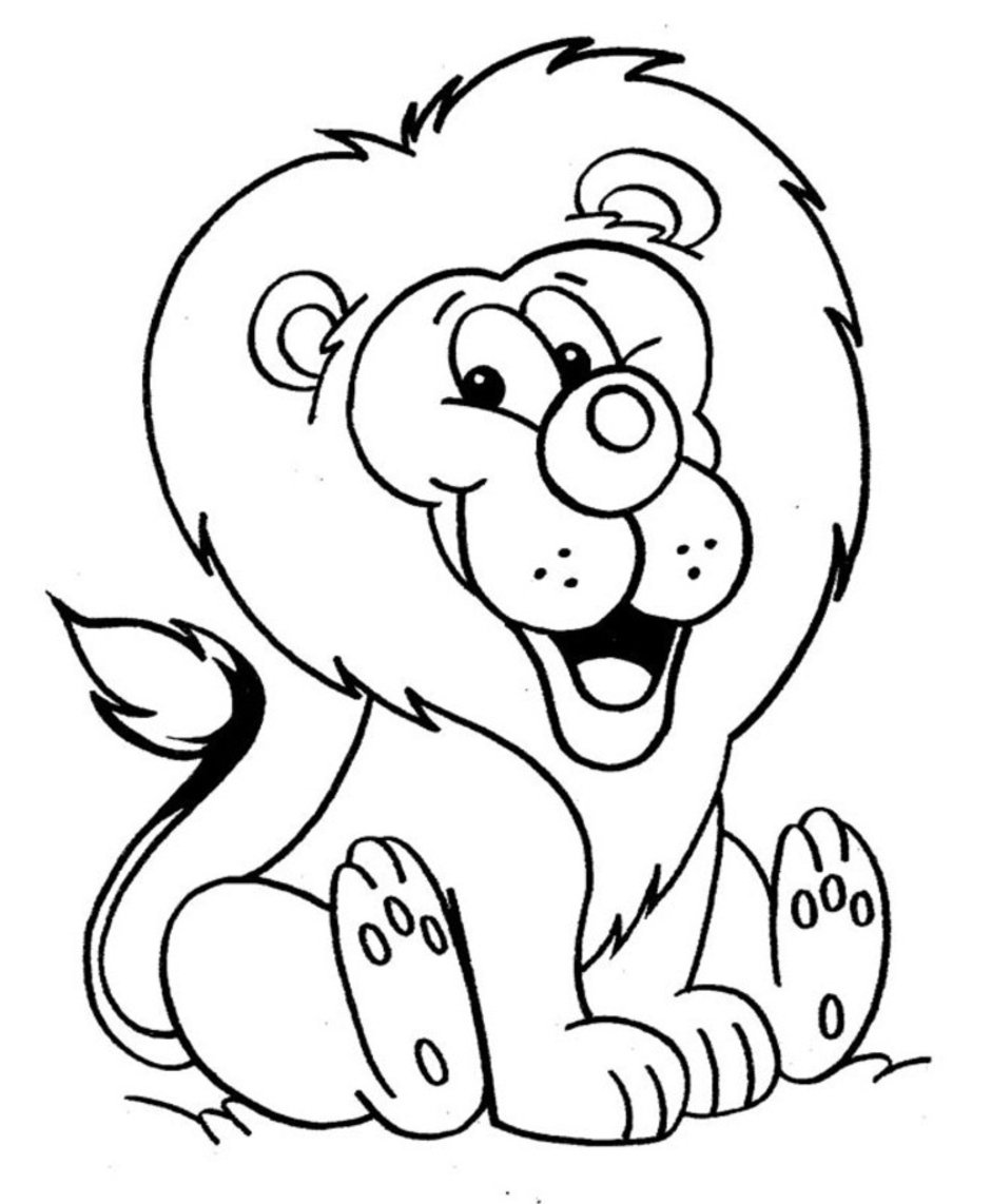 Free Printable Coloring Page Of A Lion 50 For Your For Kids With