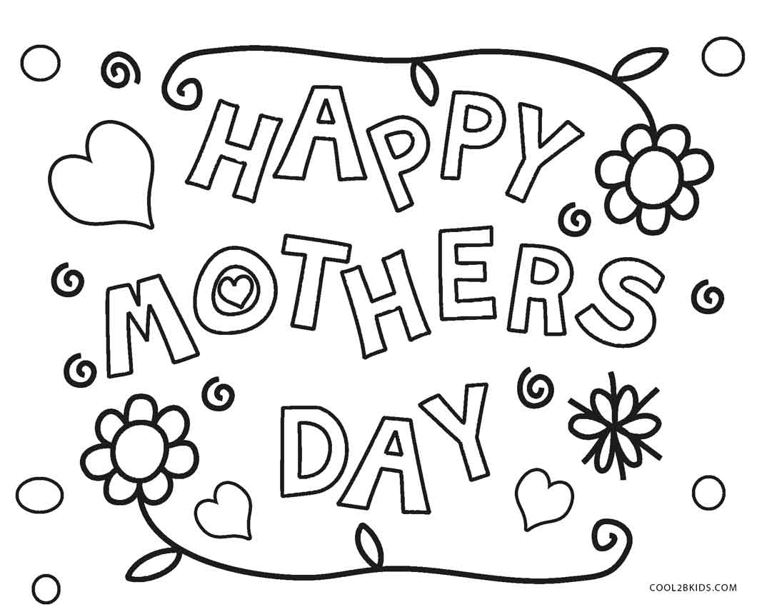Free Printable Mothers Day Coloring Pages For Kids Cool2bkids With