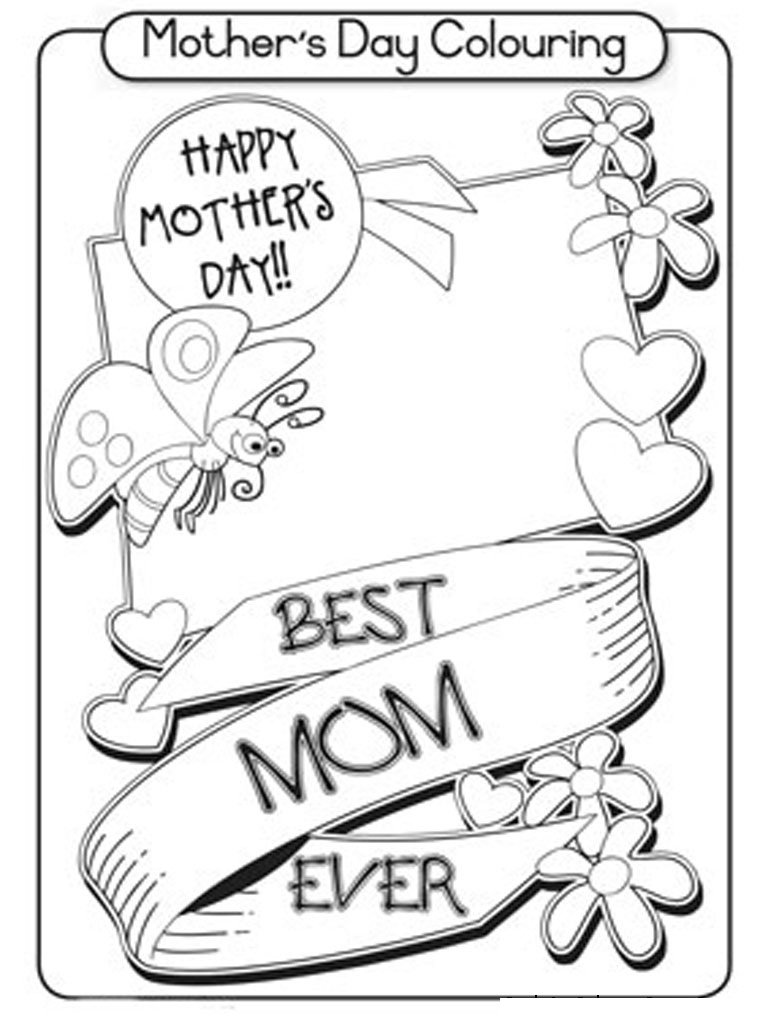 Free Printable Mothers Day Coloring Pages For Kids Within