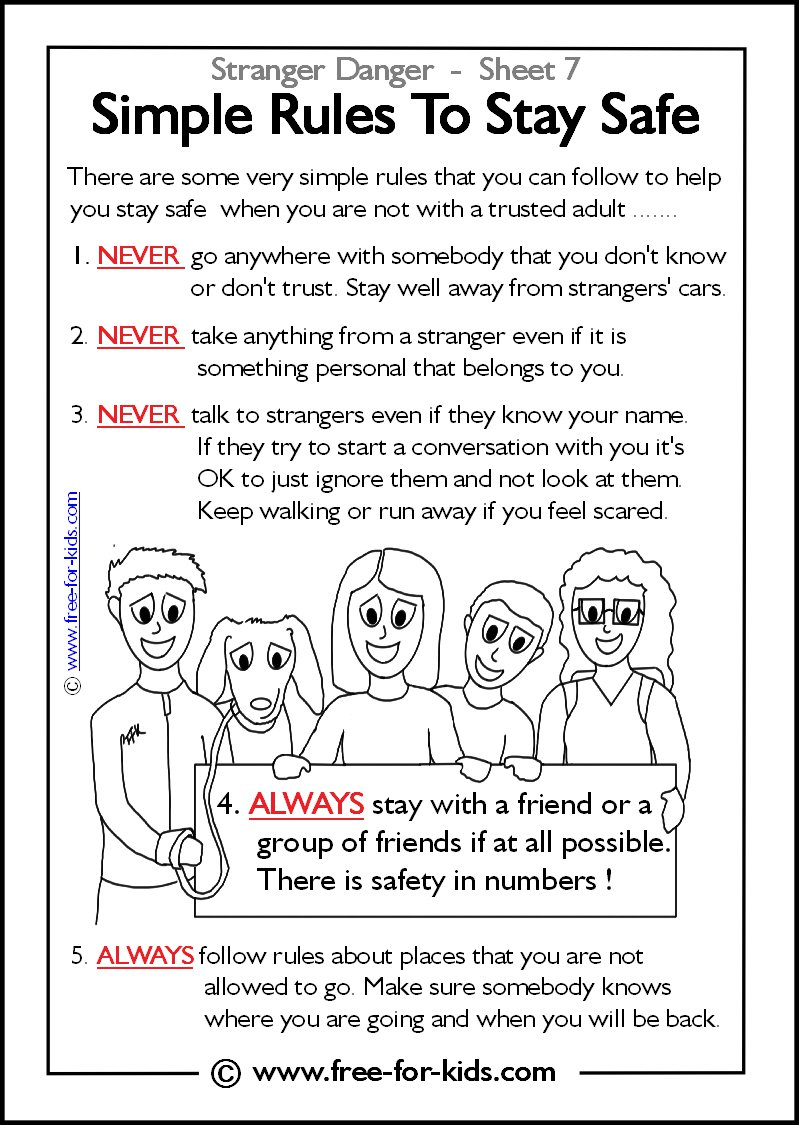 Free Printable Stranger Danger Coloring Pages 15 For Your Coloring