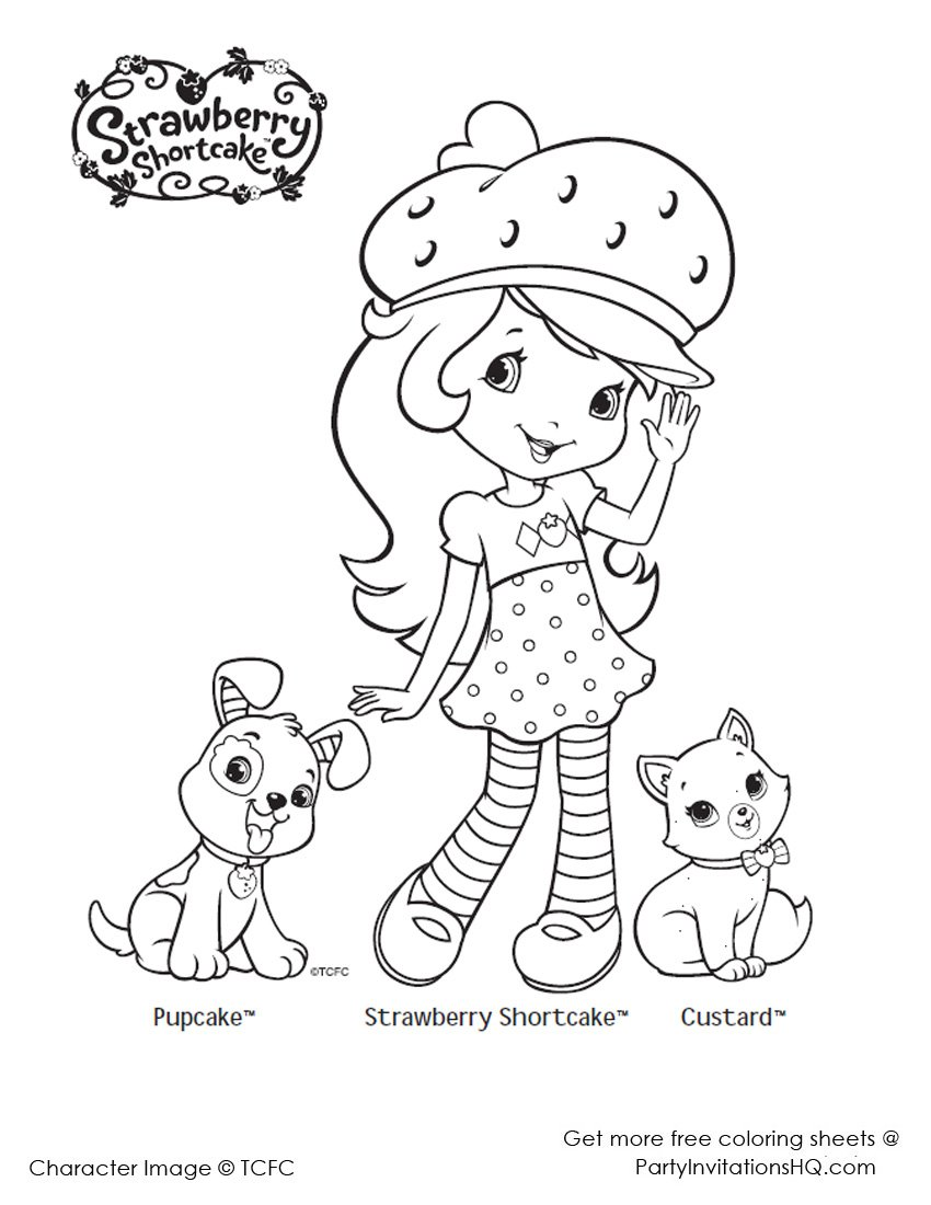 Fresh Strawberry Shortcake Coloring Page 20 On Free Coloring Book