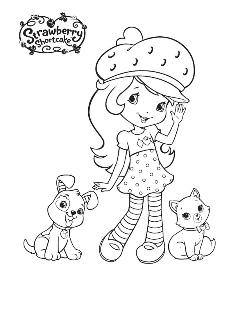 Fresh Strawberry Shortcake Coloring Pages 32 With Additional