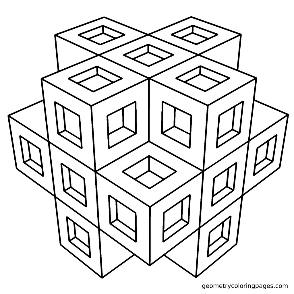 Download Geometric Shapes Coloring Pages