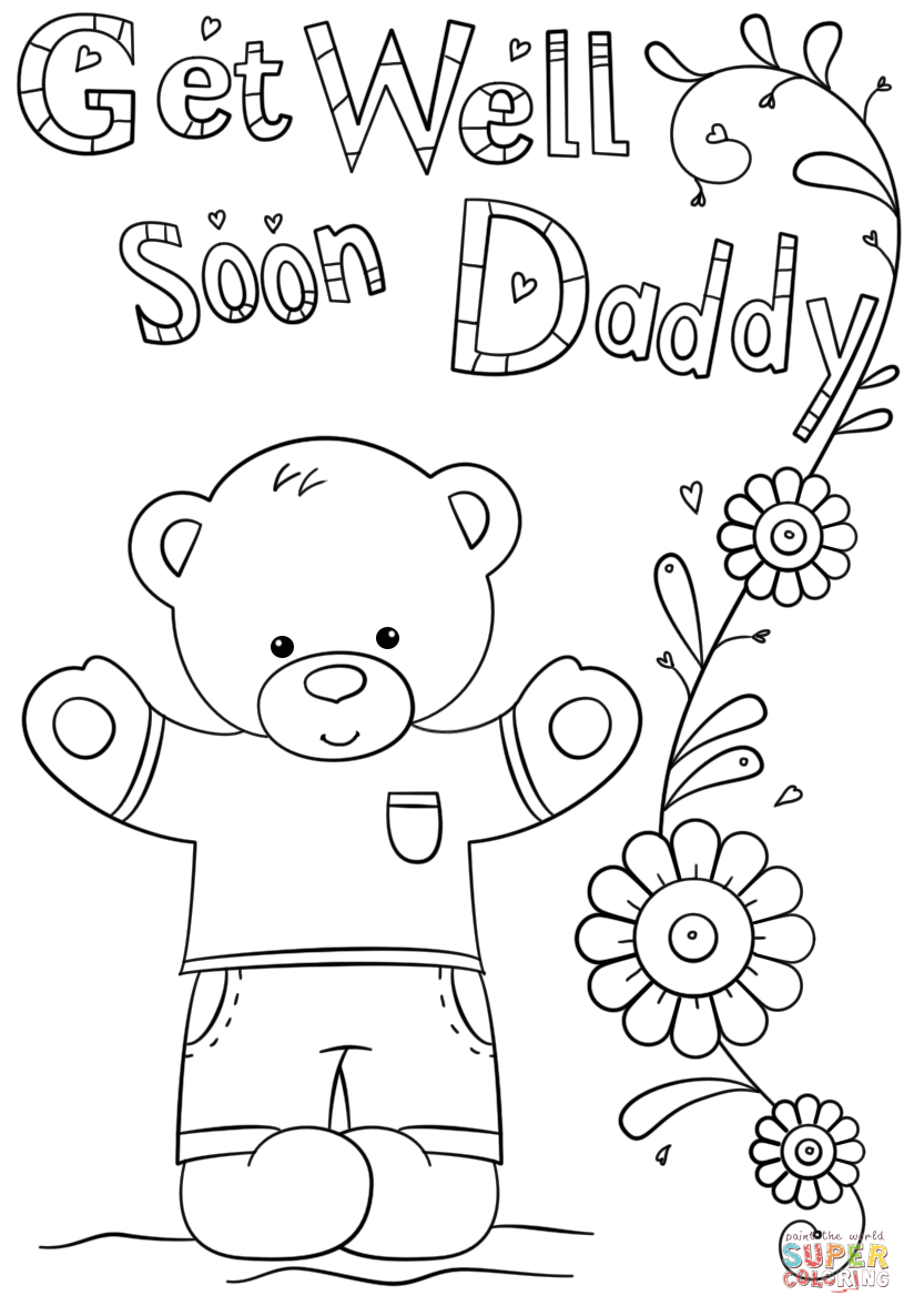 Get Well Soon Daddy Coloring Page