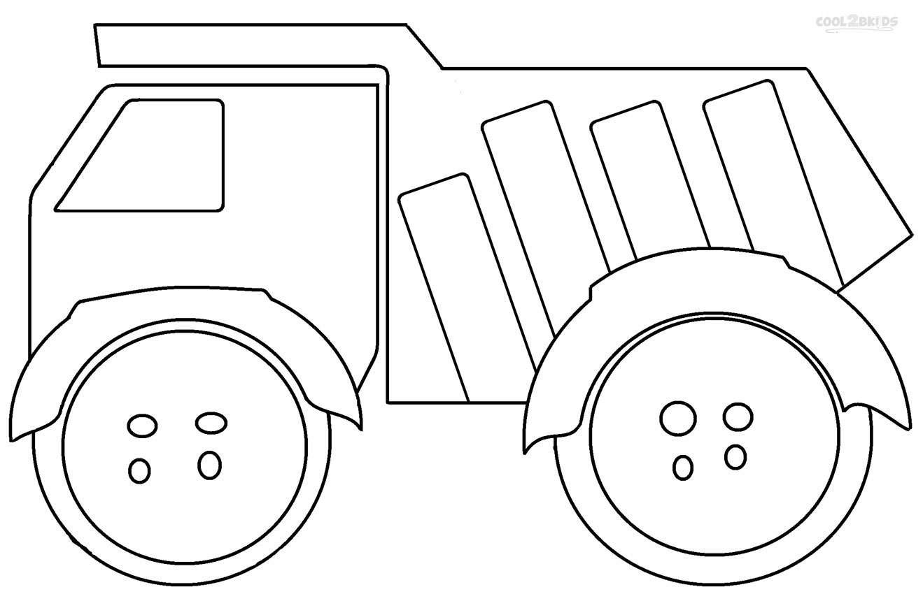 Good Dump Truck Coloring Pages 38 For Picture Coloring Page With