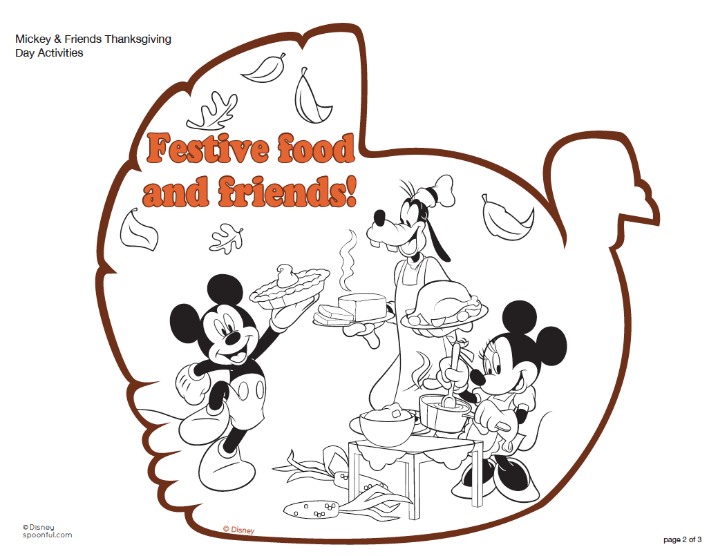 Good Free Disney Thanksgiving Coloring Pages 73 For Your Line