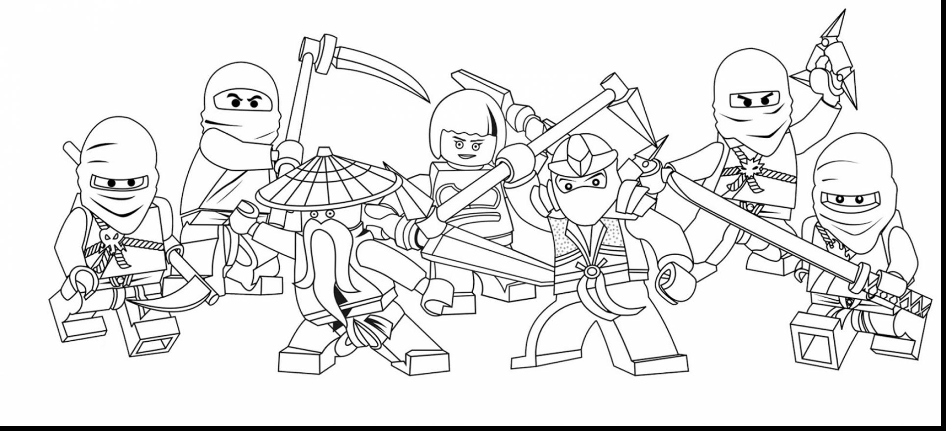 Astounding Lego Ninjago Coloring Pages With Lego Coloring Pages To