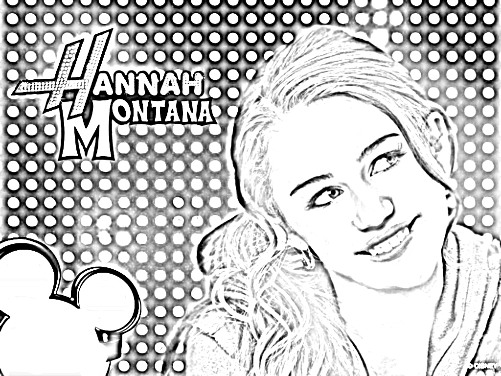 Hannah Montana Coloring Pages To Download And Print For Free In