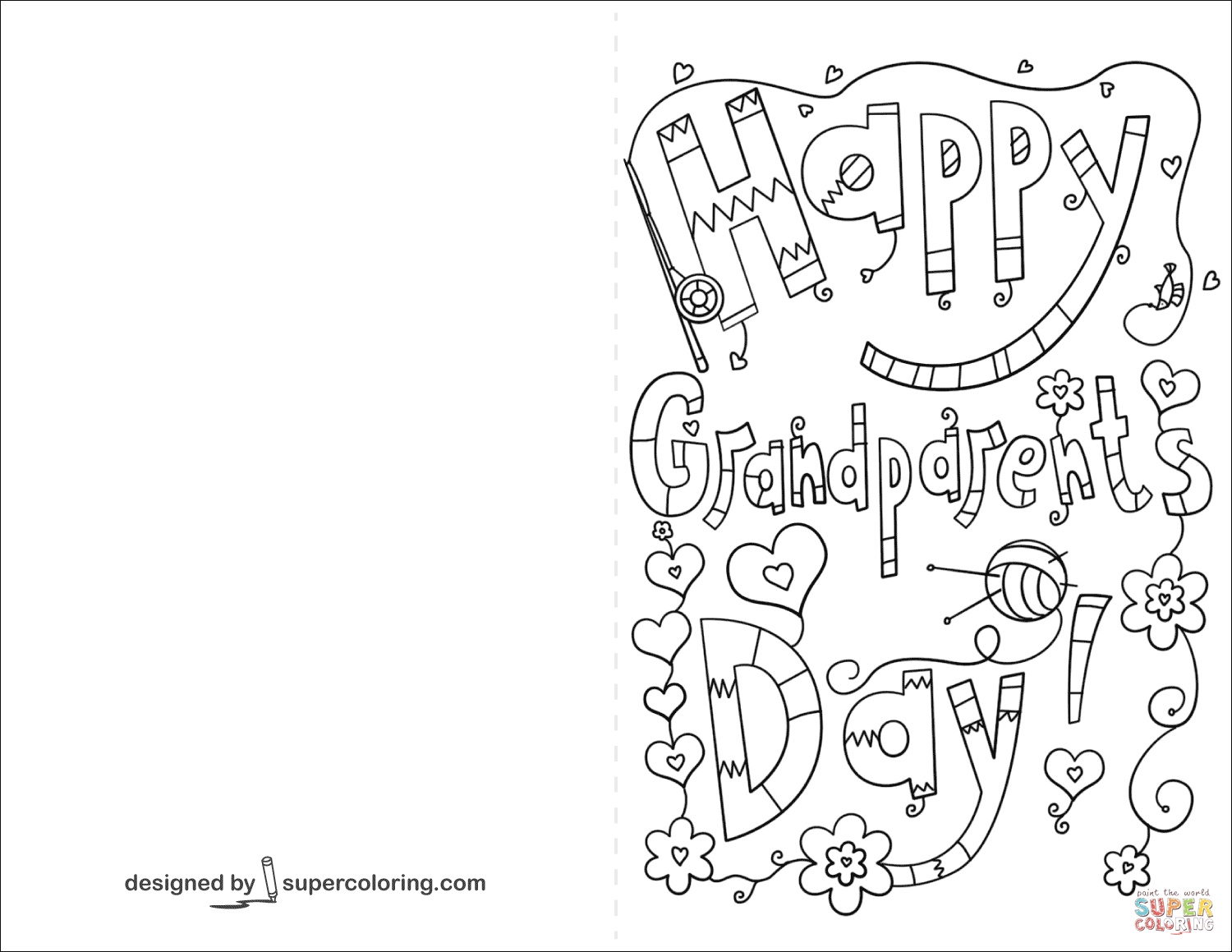 Grandparent's Day Coloring Pages