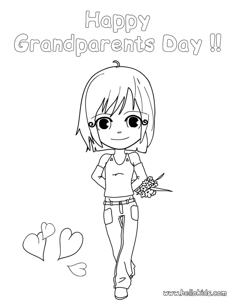 Happy Grandparents' Day Coloring Pages