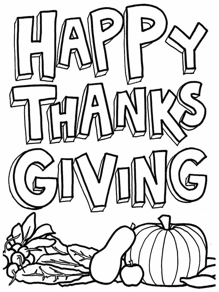 Happy Thanksgiving Printable Coloring Pages