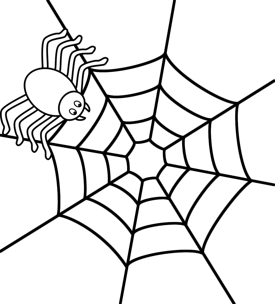 Free Printable Spider Web Coloring Pages For Kids Throughout