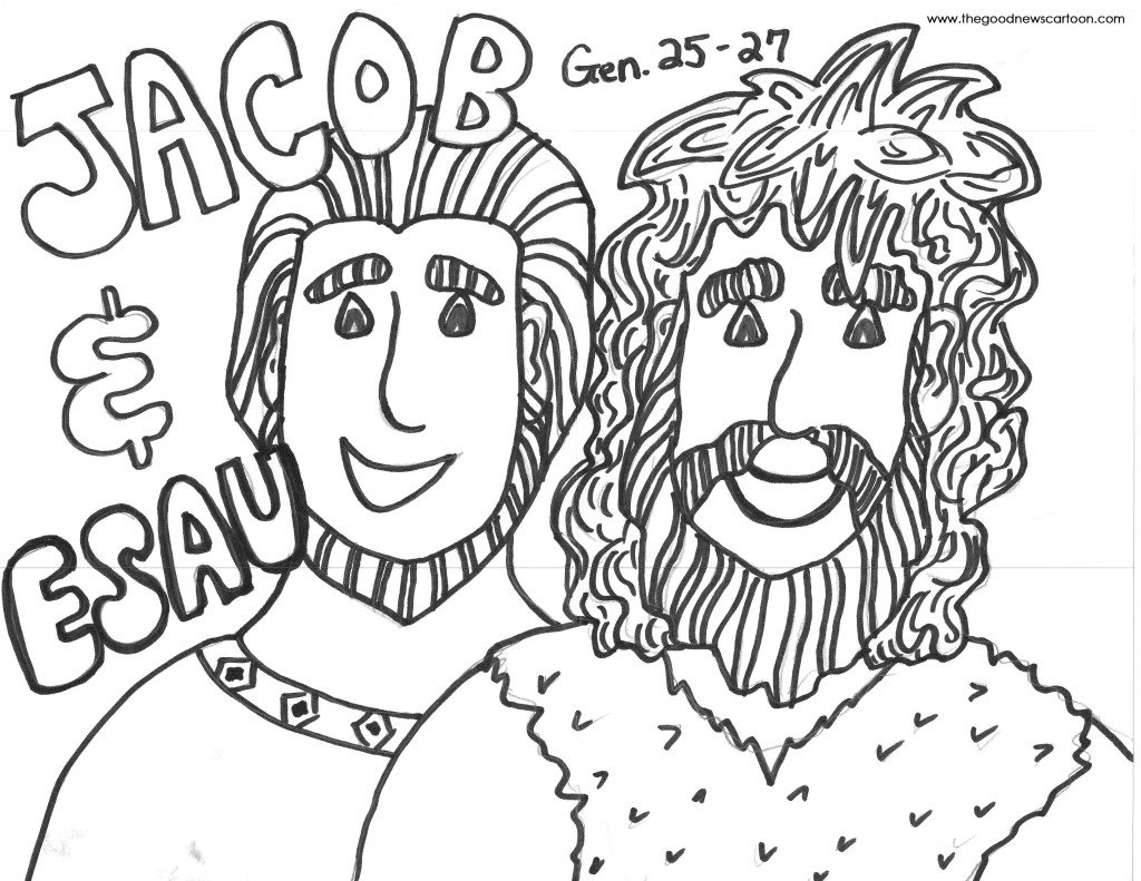 Coloring Pages Esau And Jacob