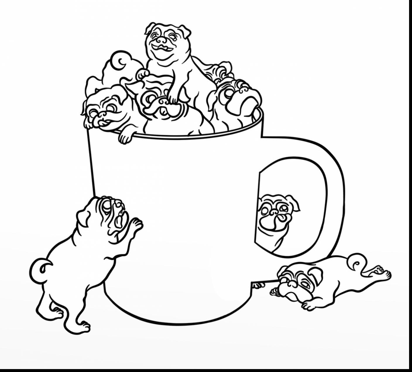 Impressive Pug Printa Add Photo Gallery Pug Coloring Pages At
