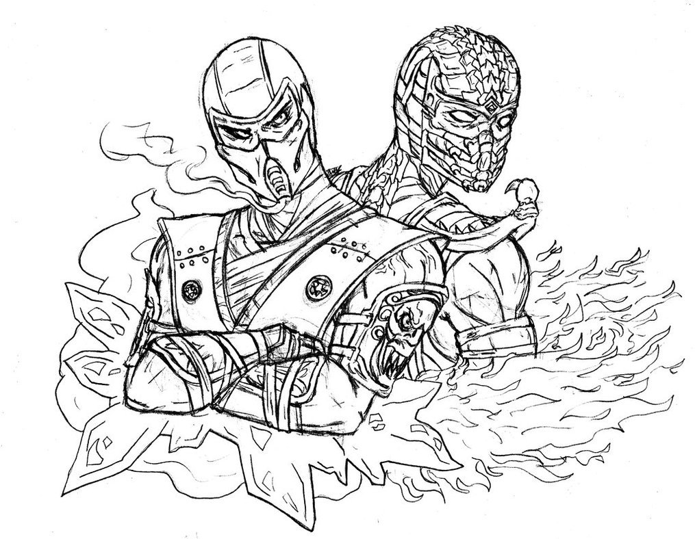 Inspirational Mortal Kombat Coloring Pages 83 On Line Drawings