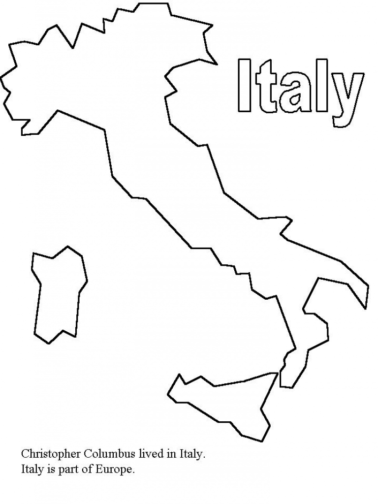 Download Coloring Pages  Italy Coloring Pages  Italy Coloring