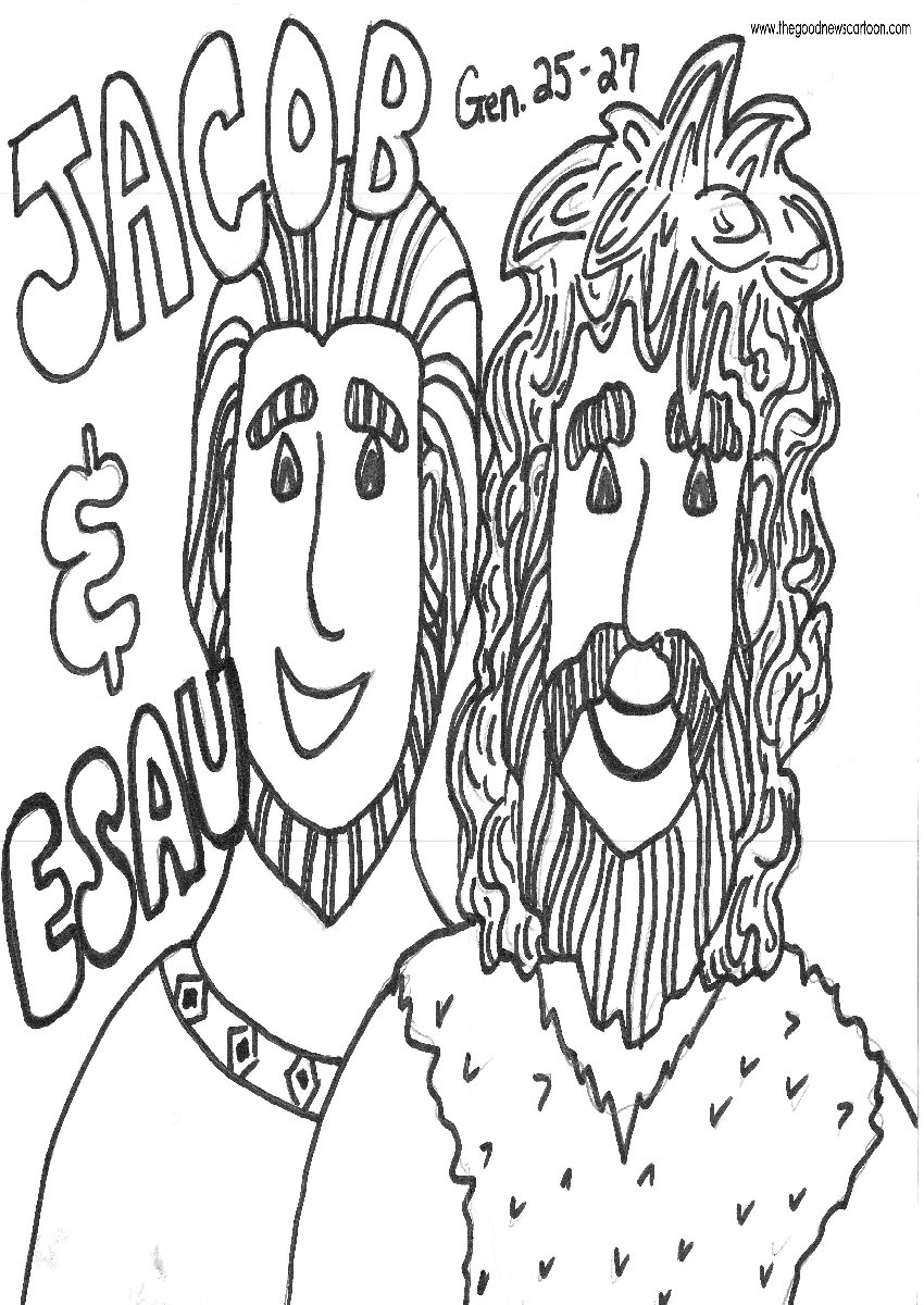 Jacob And Esau Coloring Pages - NEO Coloring