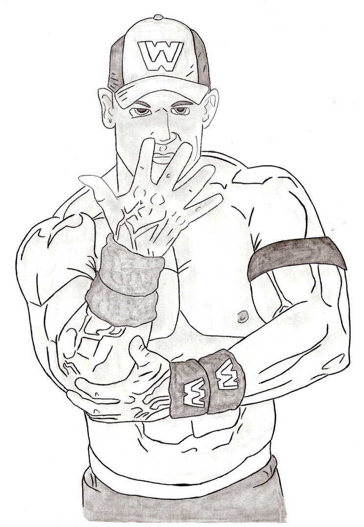 John Cena Coloring Pages And Itgod Me Within