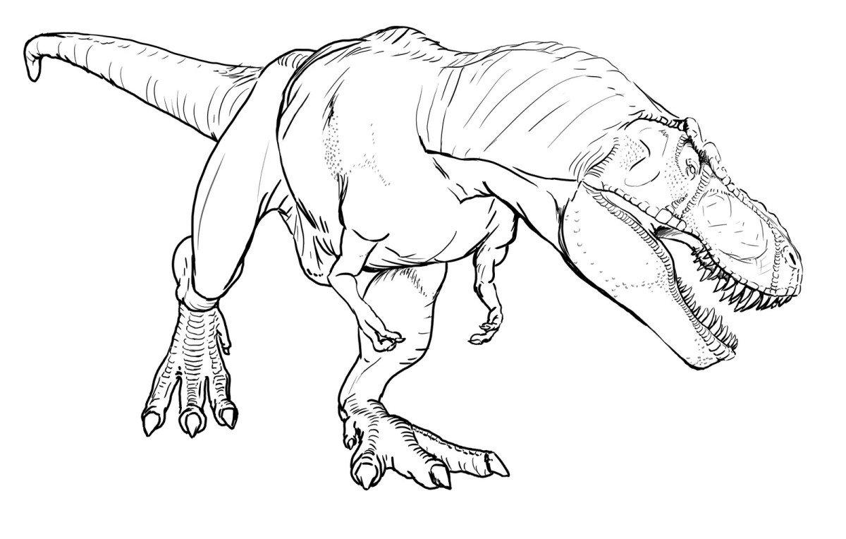 Jurassic Park Coloring Pages T Rex