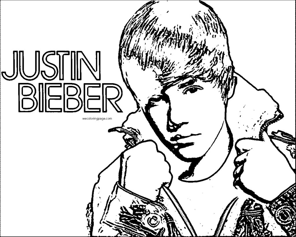 Justin Bieber Coloring Pages Coloringsuite Com And Page